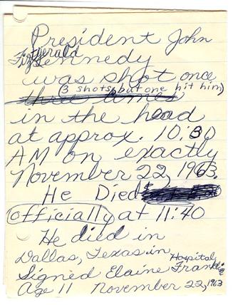 KennedyShot_1963_Elaine_note